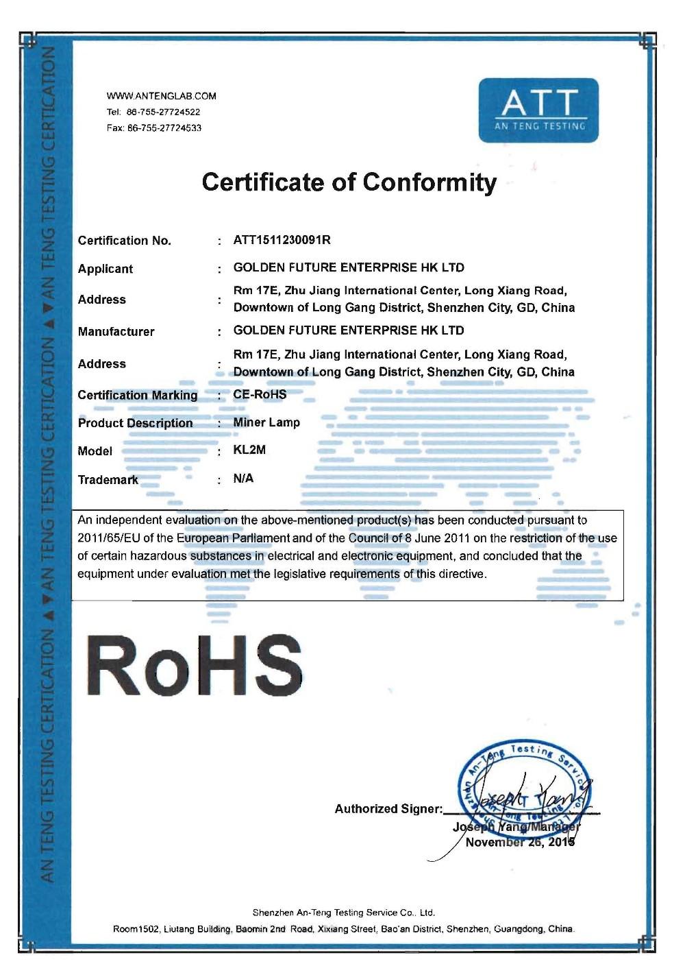 miners headlamp certificate/cordless mining headlamp/cap lamp