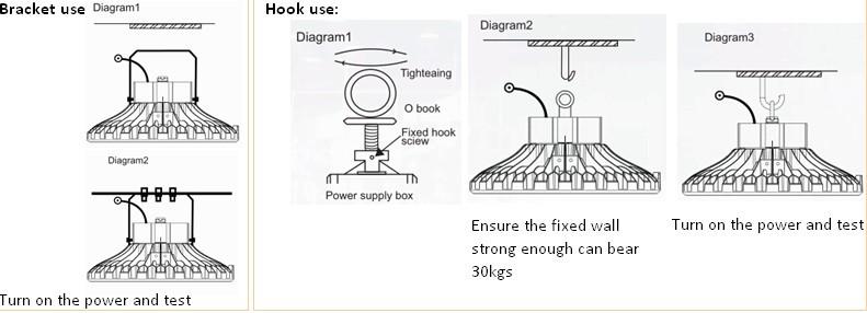 100w high efficient led high bay lighting UFO